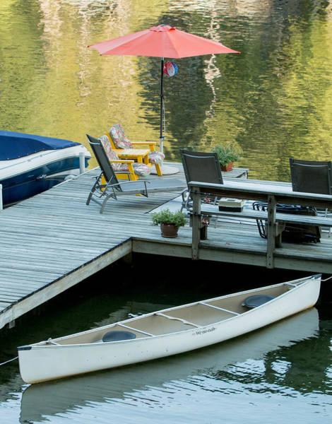 Photograph - Lake-side Dock by E Faithe Lester