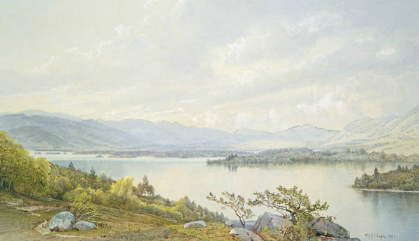 Wall Art - Painting - Lake Squam And The Sandwich Mountains by William Trost Richards