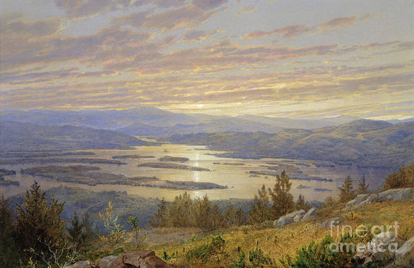 Wall Art - Painting - Lake Squam From Red Hill, 1874 by William Trost Richards