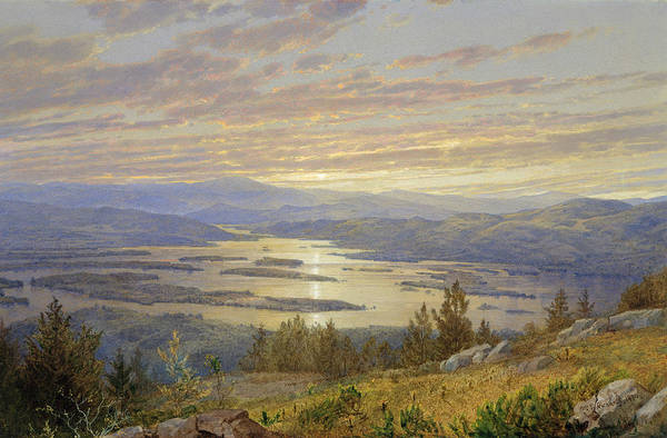 Wall Art - Painting - Lake Squam From Red Hill by William Trost Richards