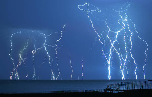 Wall Art - Photograph - Lake St. Clair Lightning by Cale Best