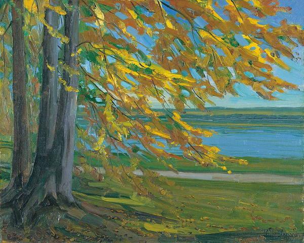 Wall Art - Painting - Lake Starnberger by Wilhelm Trubner
