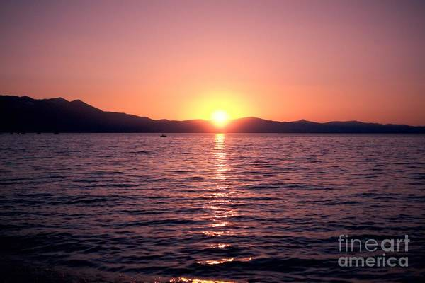 Lake Sunset 8pm Art Print
