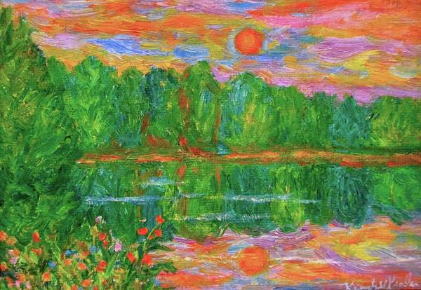Painting - Lake Sunset by Kendall Kessler