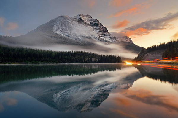 Photograph - Lake Sunset by Songquan Deng