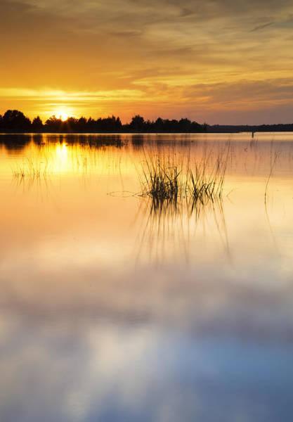 Lake Sunset Photograph - Lake Sunset Xiii by Ricky Barnard