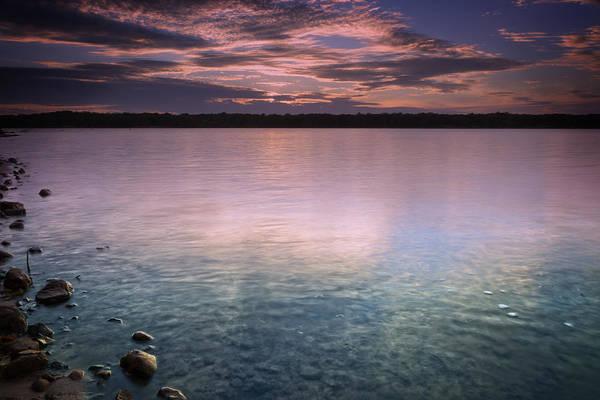 Wall Art - Photograph - Lake Sunset Xiv by Ricky Barnard