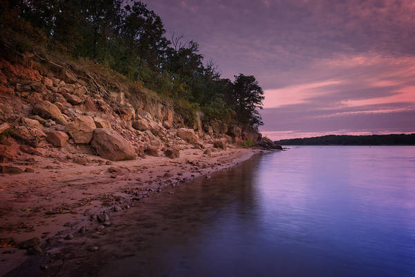 Wall Art - Photograph - Lake Sunset Xvi by Ricky Barnard
