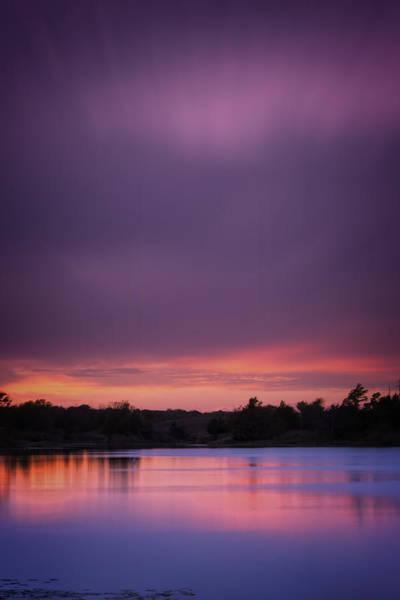 Wall Art - Photograph - Lake Sunset Xx by Ricky Barnard