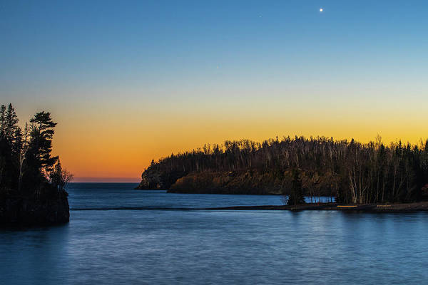 Wall Art - Photograph - Lake Superior Blue Hour by Paul Freidlund