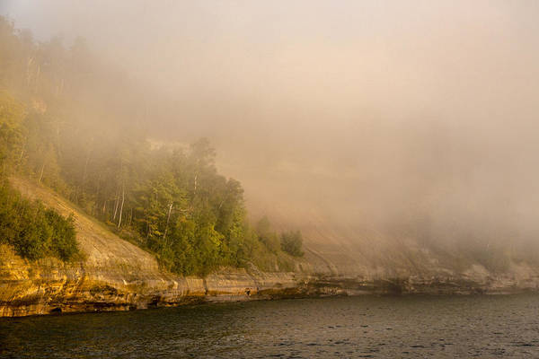 Photograph - Lake Superior Fog by Jack R Perry