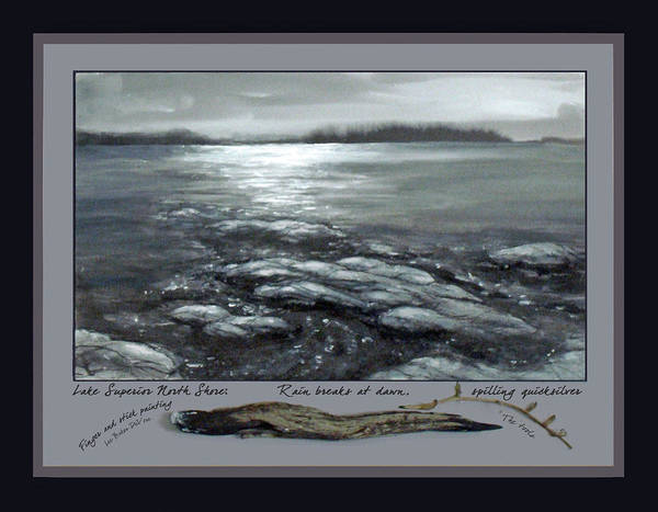 Wall Art - Painting - Lake Superior North Shore by Lee Baker DeVore