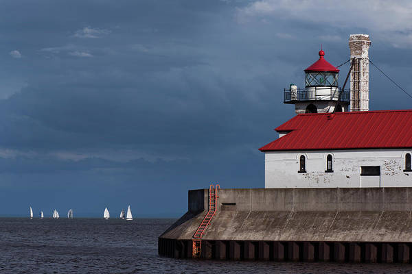 Photograph - Lake Superior Regatta by David Lunde