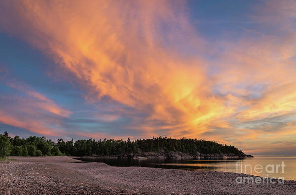 Photograph - Lake Superior Sunset Sky by Les Palenik