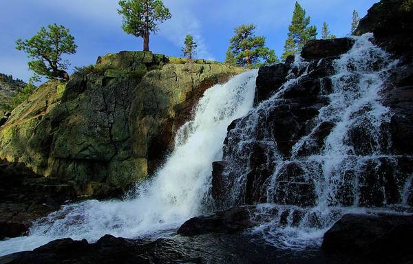 Photograph -  Lake Tahoe Back Country Waterfall by Sean Sarsfield