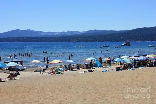 Photograph - Lake Tahoe Beach Scene by Carol Groenen