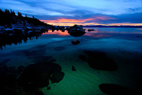 Lake Tahoe Clarity At Sundown Art Print
