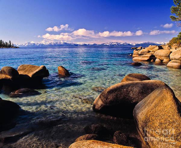 Tahoe Photograph - Lake Tahoe Cove by Vance Fox