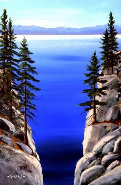 Painting - Lake Tahoe Framed by Frank Wilson