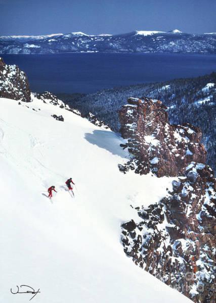 Wall Art - Photograph - Lake Tahoe Skiing by Vance Fox