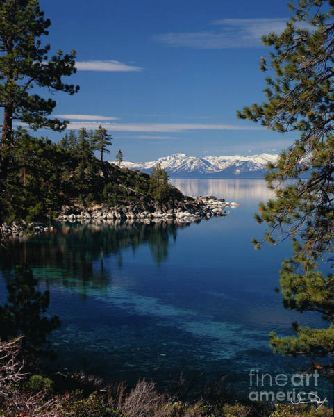 Depth Photograph - Lake Tahoe Smooth by Vance Fox