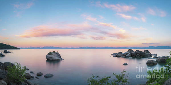 Photograph - Lake Tahoe Sunrise Panorama by Michael Ver Sprill