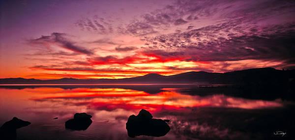 Wall Art - Photograph - Lake Tahoe Sunset Panorama by Vance Fox