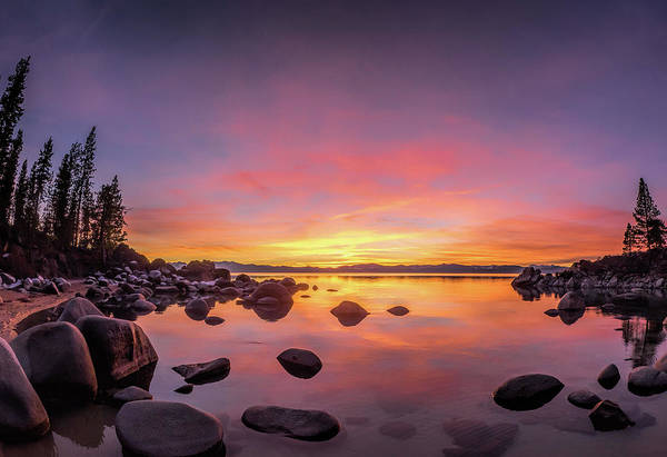 Wall Art - Photograph - Lake Tahoe Sunset Peace by Martin Gollery