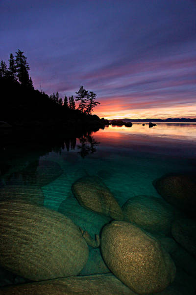 Lake Tahoe Sunset Portrait Art Print