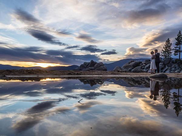 Photograph - Lake Tahoe Wedding by Martin  Gollery