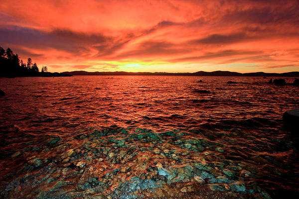 Lake Tahoe...blood Moon Sunset Art Print