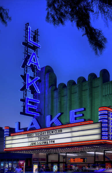 Wall Art - Photograph - Lake Theater Oak Park Il by Steve Gadomski
