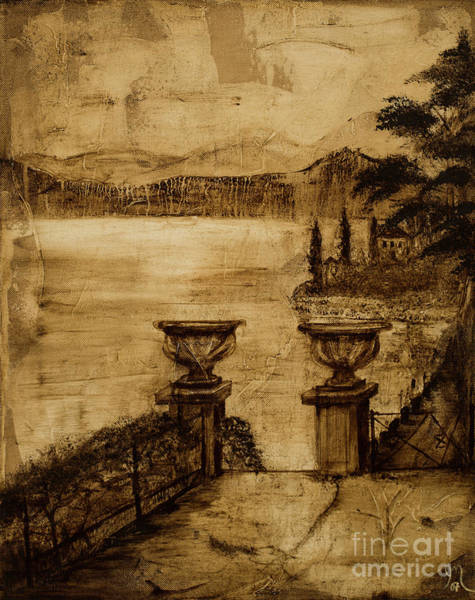 Lake Como Painting - Lake Umber by Jodi Monahan
