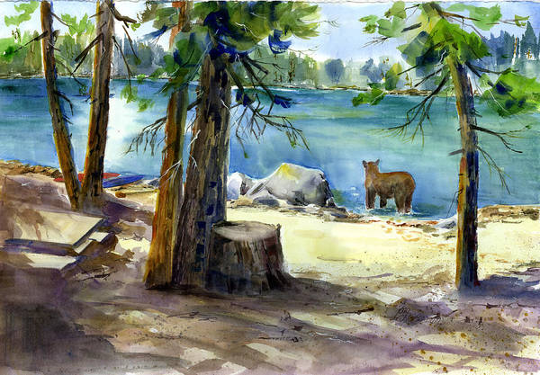 Painting - Lake Valley Bear by Joan Chlarson