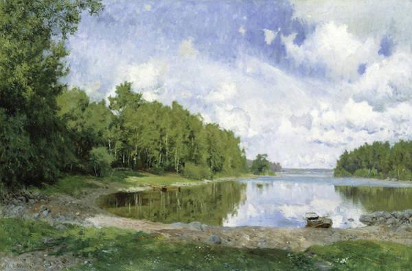 Wall Art - Painting - Lake View At Engelsberg, Vastmanland, 1893 by Olof Per Ulrik Arborelius