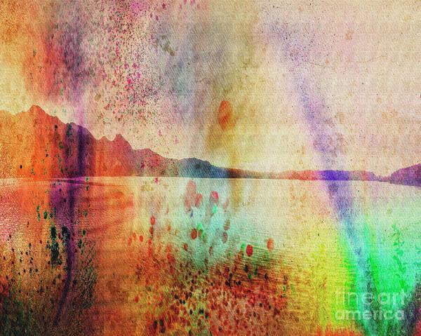Digital Art - Lake View by Edmund Nagele
