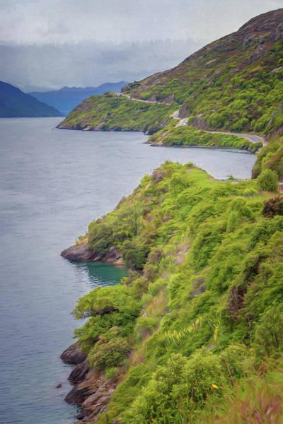 Photograph - Lake Wakatipu New Zealand Painterly by Joan Carroll