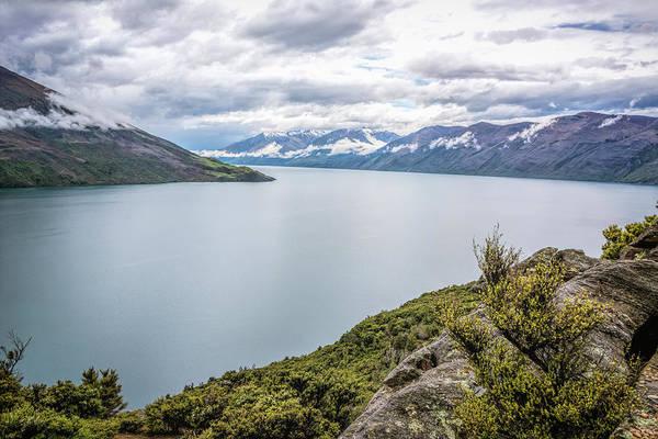 Photograph - Lake Wanaka From Mou Waho New Zealand by Joan Carroll