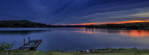 New Preston Ct Photograph - Lake Waramaug Sunset Panorama by John Vose