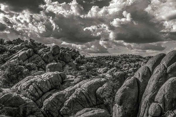 Photograph - Lake Watson Granite Rocks Prescott Arizona Bnw 2482 by David Haskett II