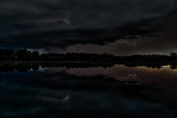 Photograph - Lake Wausau Lightning Storm by Dale Kauzlaric