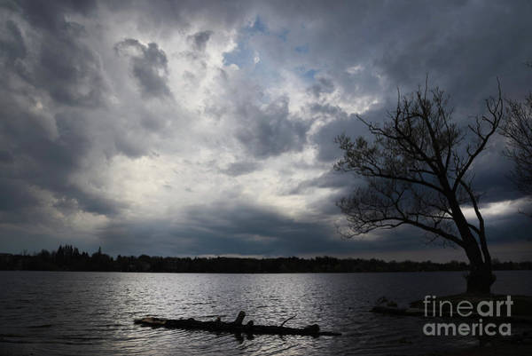Photograph - Lake Wilcox Thunder Clouds-1519 by Steve Somerville