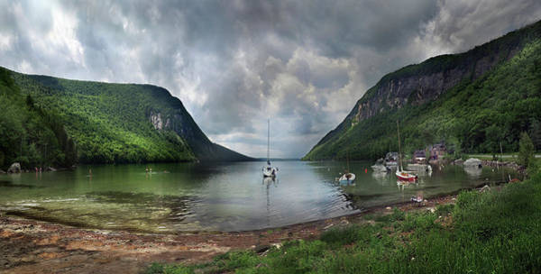 Photograph - Lake Willoughby  Panorama One by Nancy Griswold