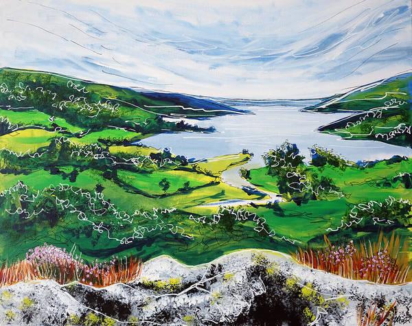 Windermere Painting - Lake Windermere by Laura Hol Art