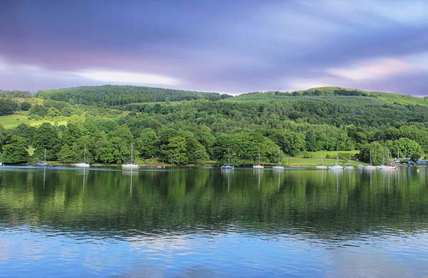 English Countryside Photograph - Lake Windermere Reflection by Martin Newman