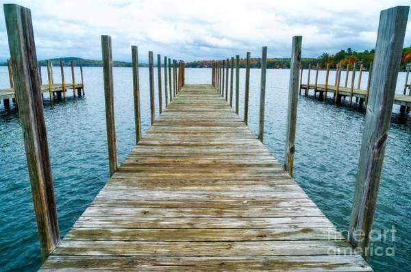 Wall Art - Photograph - Lake Winnipesaukee Dock In Fall by DAC Photo