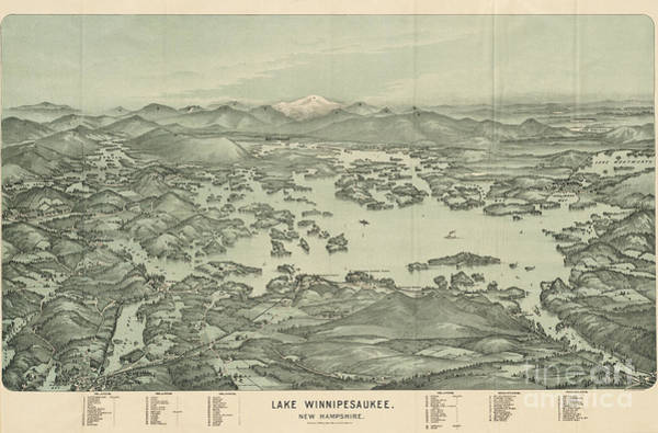 Lake Winnipesaukee Wall Art - Painting - Lake Winnipesaukee New Hampshire by Celestial Images