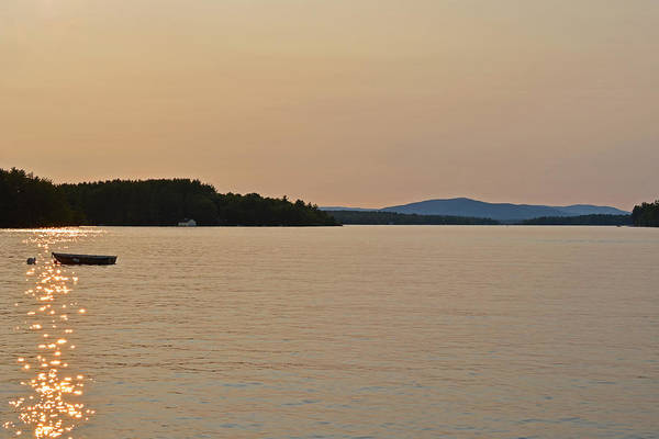 Photograph - Lake Winnipesaukee Row Boat Sunset by Toby McGuire