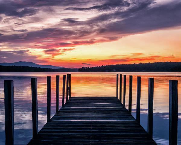 Lake Winnipesaukee Wall Art - Photograph - Lake Winnipesaukee Sunrise by Steven Campbell