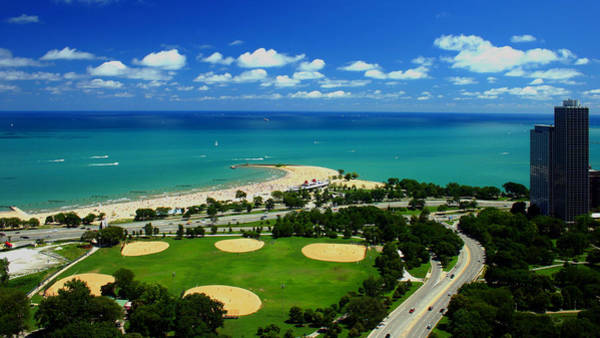 Photograph - Lakefront Beach Park Baseball Fields by Patrick Malon